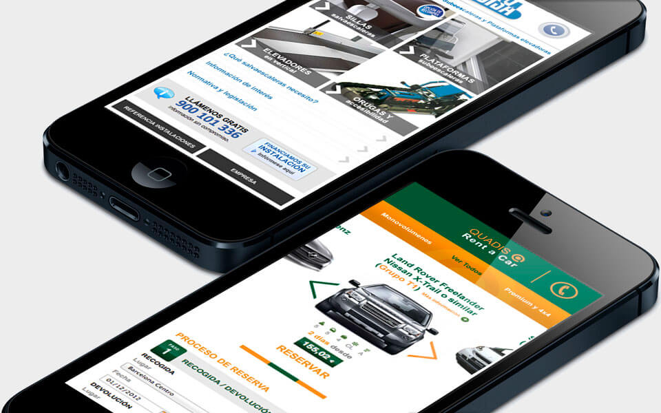Quadis rent a car mobile responsive